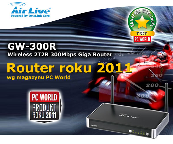 produkt roku 2011 - router airlive